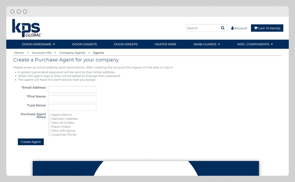 B2B - Add Purchasing Agents