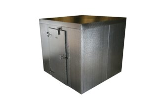 Traditional Walkin Cooler Solution for Backroom Click and Collect Staging